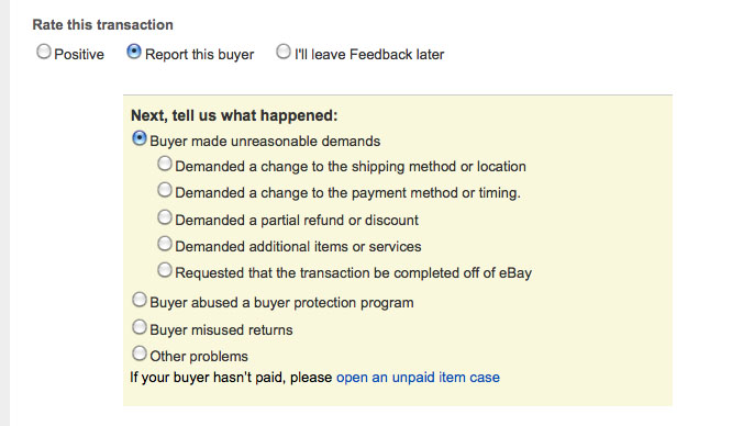 Sellers May Not Leave Negative Feedback For Buyers But May Now Report Bad Buyers Free Ebay Paypal Business And Law Forums Ebay Suspension Paypal Limited